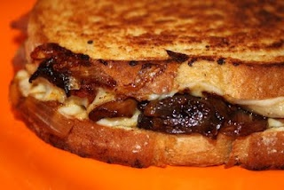 Caramelized Mushroom, Onion, and Prosciutto Grilled Cheese