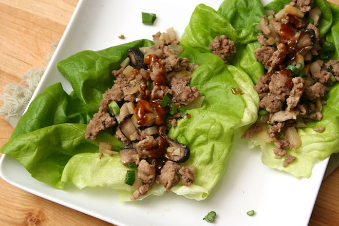 Asian Lettuce Wraps with pork or chicken (http://www.crumblycookie.net ...