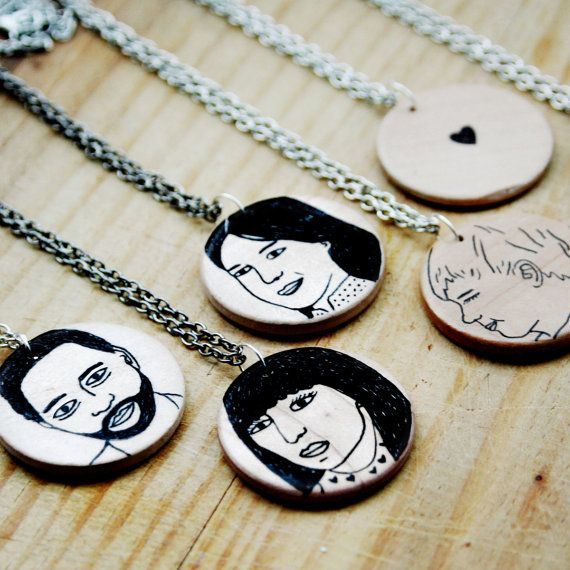 Why hide your love in a locket? Show the world that pretty face with a custom portrait pendant from artist Todd Gorka, just in time for Valentine's Day.