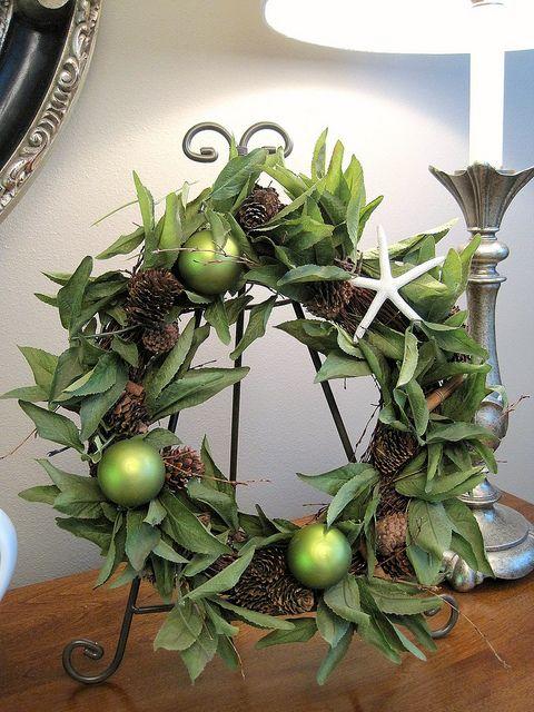 Christmas wreath makeover