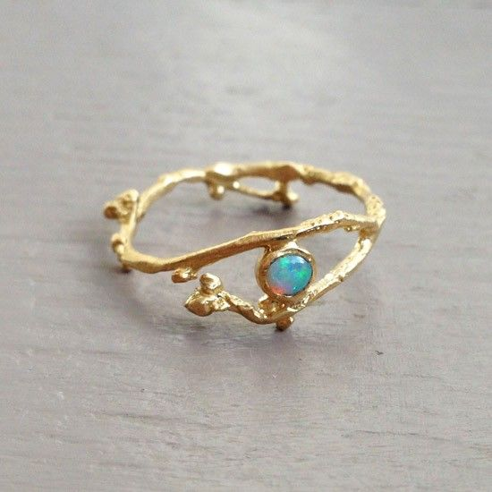 10kt Gold Bud Ring With Opal Rings Around Pinterest