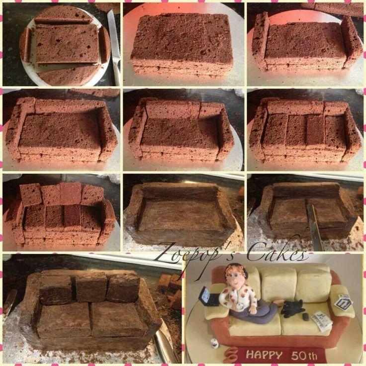 Sofa Cake Tutoriales Pinterest