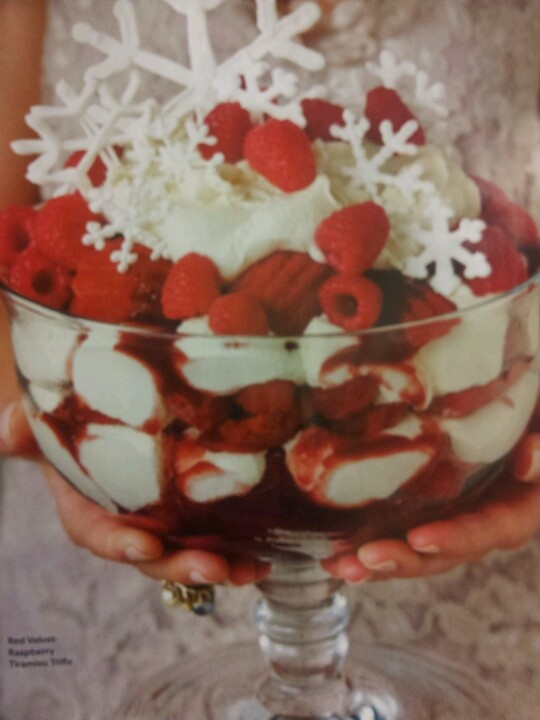 red velvet cake-this is a cute spin on it! Red Velvet Raspberry Trifle ...