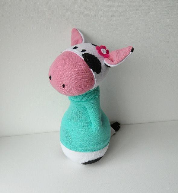 носок корова куклы | Flickr