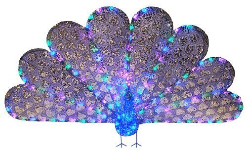 Pin by rick randklev on garden outdoor d cor pinterest for 57in led lighted peacock outdoor christmas decoration