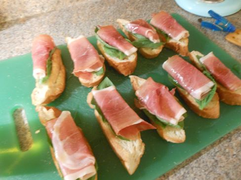 Prosciutto Basil Crostini #recipe   Martha Stewart watch out   Pinter ...
