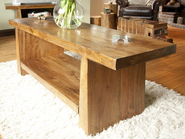 Salcette Chunky Coffee Table Wooden Furniture Ideas Pinterest