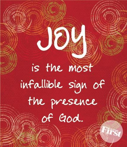 JOY = God's presence