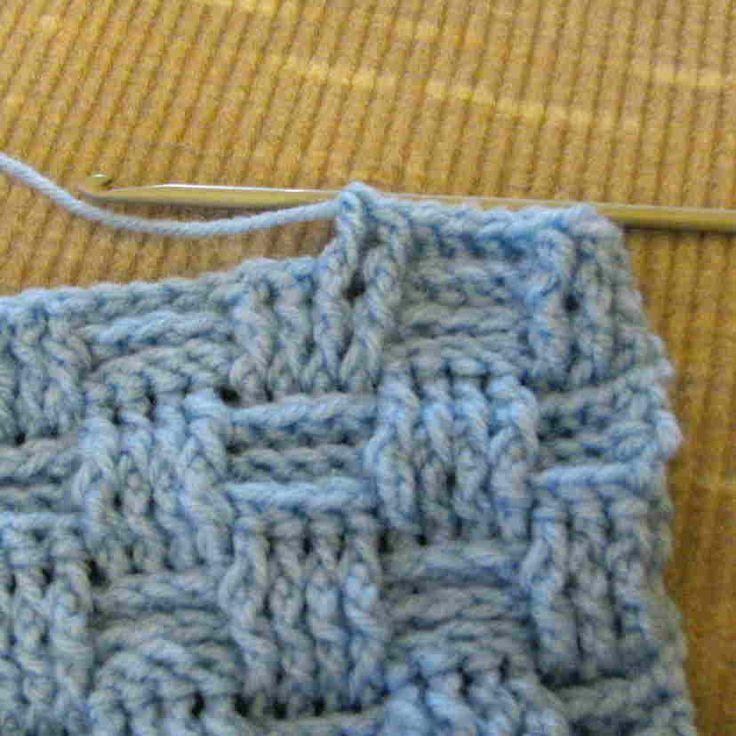 Basketweave stitch. How beautiful....