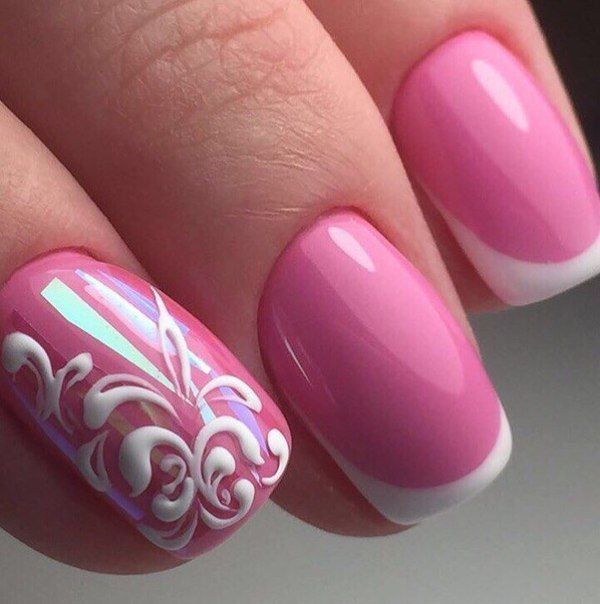 Маникюр розовый дизайн 2017 гель лак