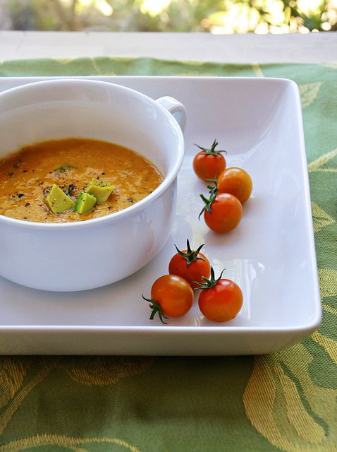 Roasted Sweet Pepper Soup | cooking | Pinterest