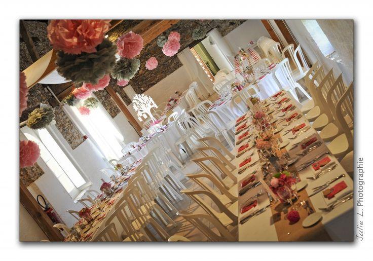 D Co Mariage Champ Tre Chic Rose Et Gris D Co Pinterest
