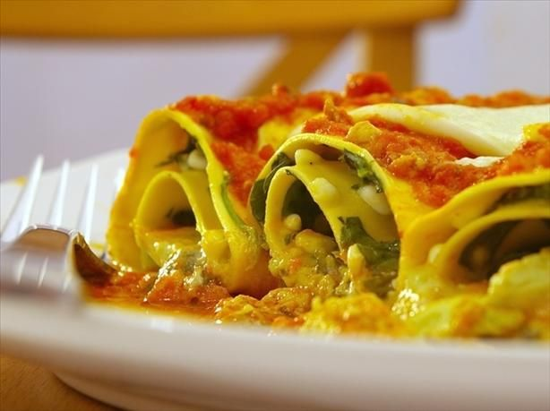 "Lasagna Spirals: ""This is a wonderful recipe to make ahead of time. I ..."