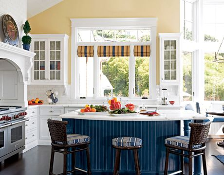 love blue and yellow kitchens cottage kitchens pinterest
