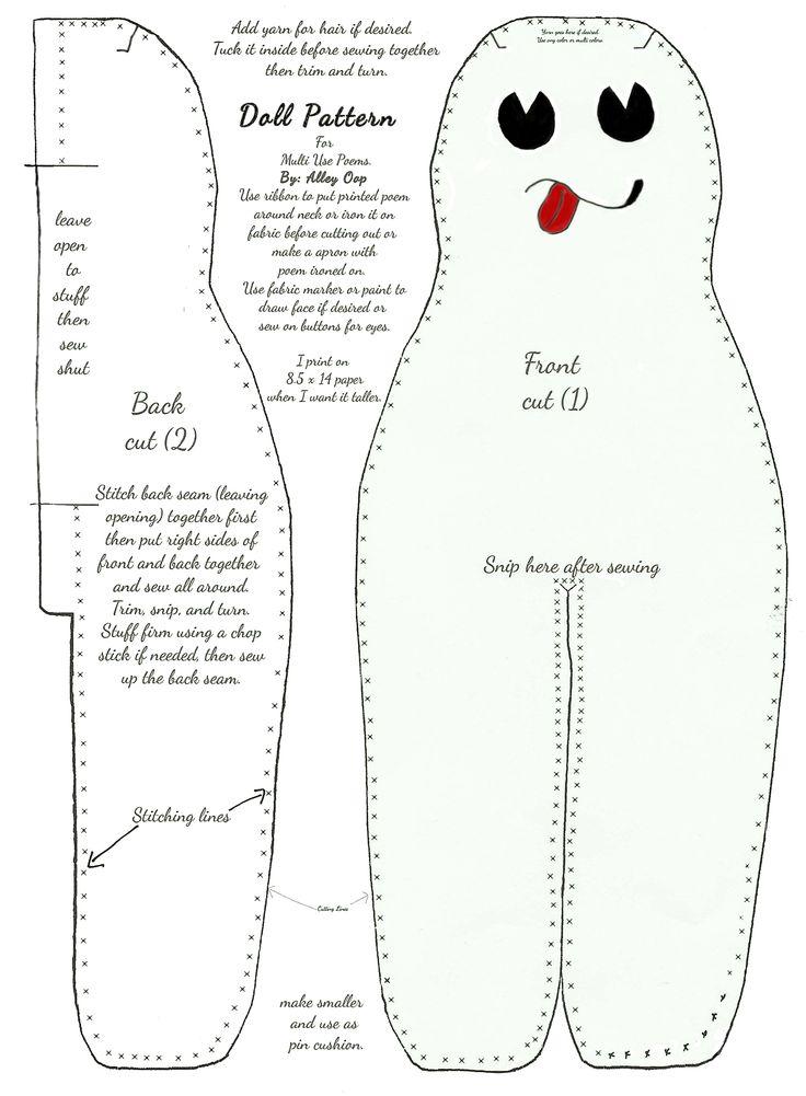 Vibrant image regarding dammit doll printable pattern