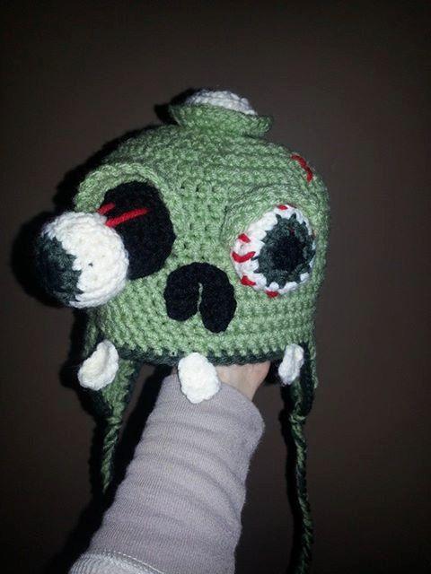 Crochet Zombie : Crochet Zombie hat by LovebugsandMonkeys on Etsy, $20.00