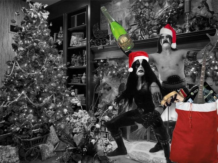Happy metal christmas black pinterest