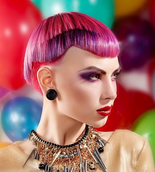 Colorful Short Hairstyles | Colorful Hairstyles | Pinterest
