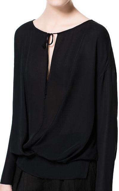 Zara Studio Silk Loose Blouse 101