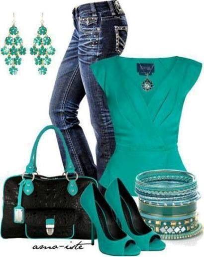 Pretty green top n j