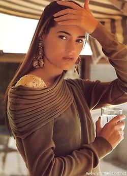 """Décolletes"", Elle France,July 1988 Photographer: Hiromasa Model: Yasmin Le Bon"