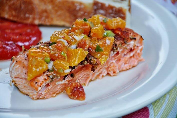 grilled salmon w/ blood orange salsa | Eats | Pinterest
