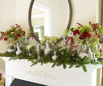 A Festive Collection-Christmas Fireplace Mantle
