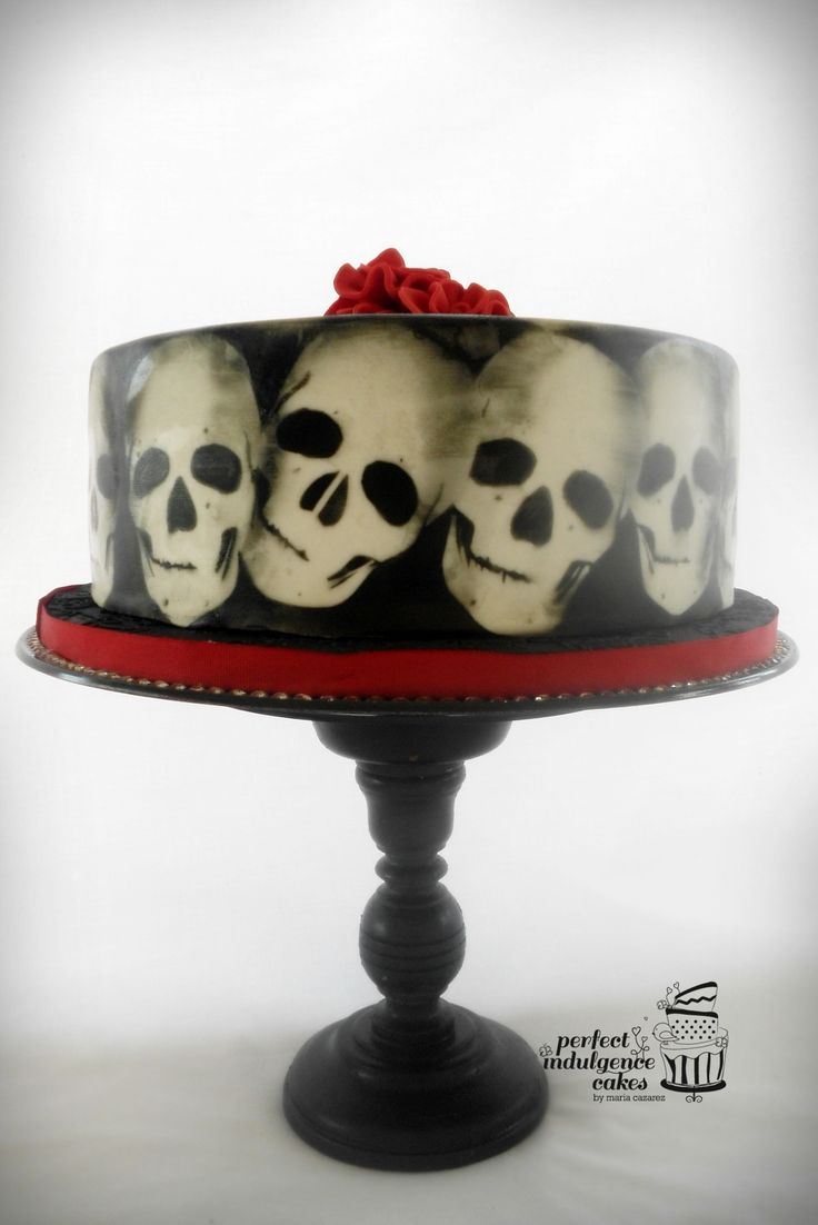 Cake Decorating Airbrush Stencils : Skull Airbrush Stencil Cake Ideas and Designs
