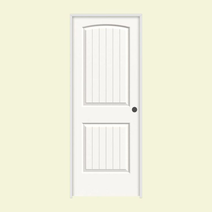 Prehung Doors Jeld Wen Doors Smooth 2 Panel Arch Top V Groove Painte