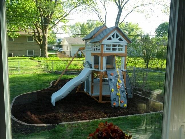 Good idea for backyard playground