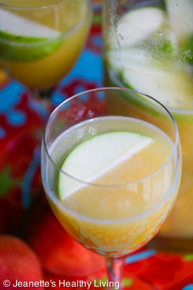 White Peach Sangria Recipe | Jeanette's Healthy Living