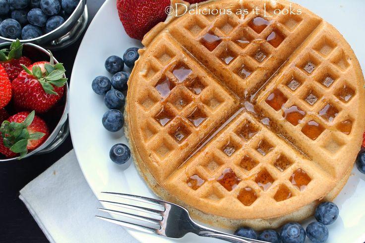 Vegan Gluten-Free Multi-Grain Waffles {also Low-FODMAP} / Delicious as ...