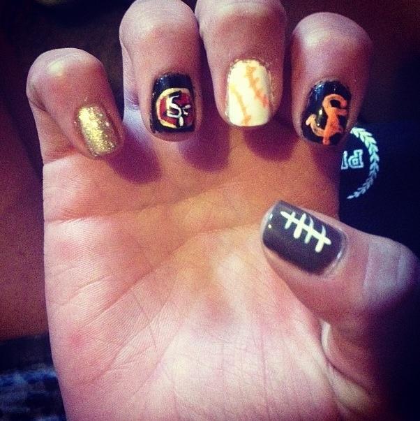 49ers & sf giants ^.^ Nail art   Nails   Pinterest
