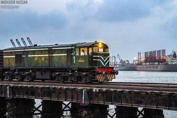 Bridge Port of Karachi