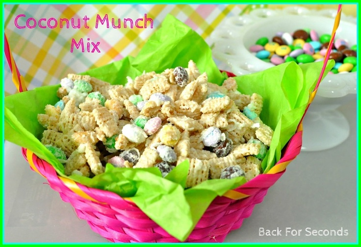 Coconut Easter Munch Mix (using Chex cereal and white chocolate). This ...
