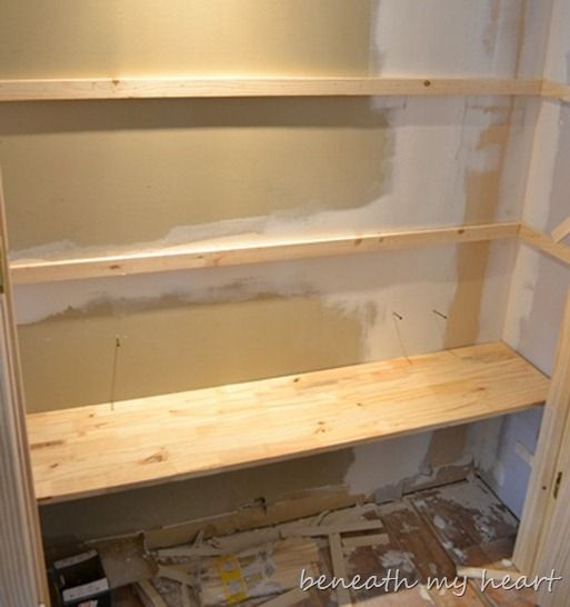 Crown Molding And Pantry Shelves