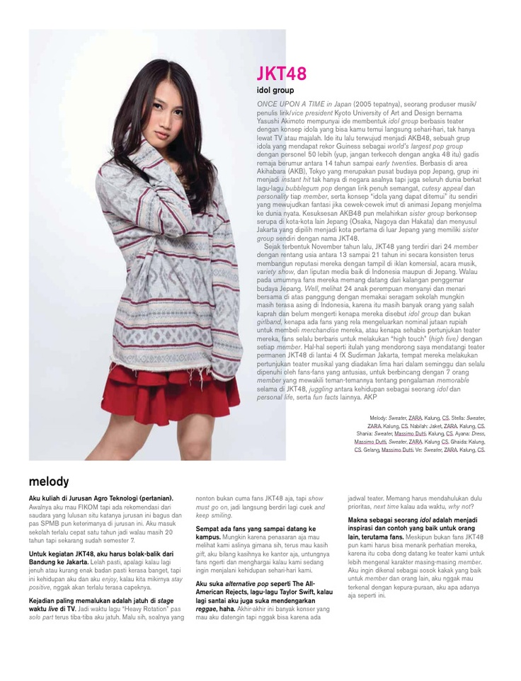 Hai 11.2012 JKT48 Melody Nurramdhani Laksani (Melody)