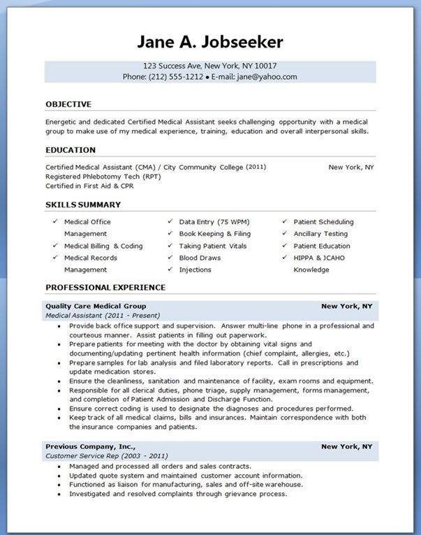 healthcare assistant cv 04052017