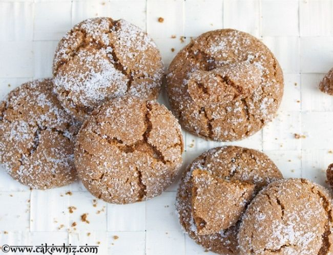 Molasses Crinkle Cookies   Food for Thought   Pinterest