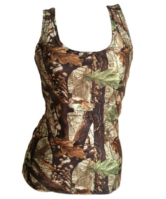 Hunter's Camouflage Tank Top Fitted For Women by aneoutdoors, $18.95