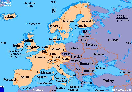 Map of Western Europe Western Europe Nordic Countries Pinterest