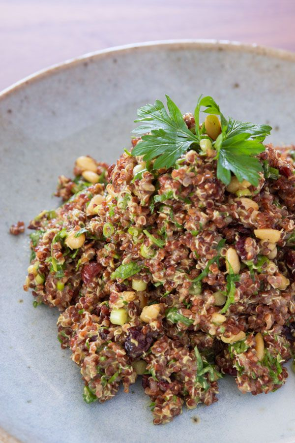 Curried Quinoa Salad with Curry-Yogurt dressing, dried cranberries ...