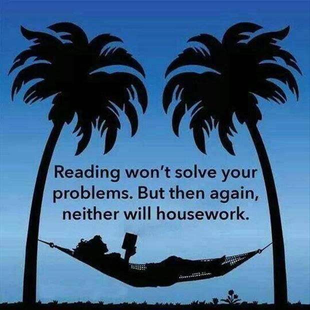 reading or housework?