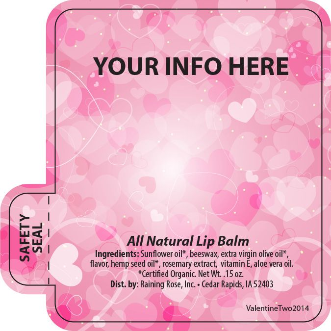 Customizable Valentine Lip Balm Templates!