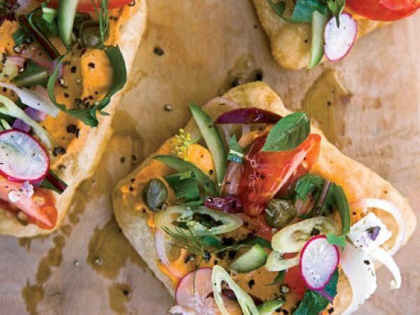 Greek Salad Sandwiches Recipe | http://aol.it/1lIoSoA