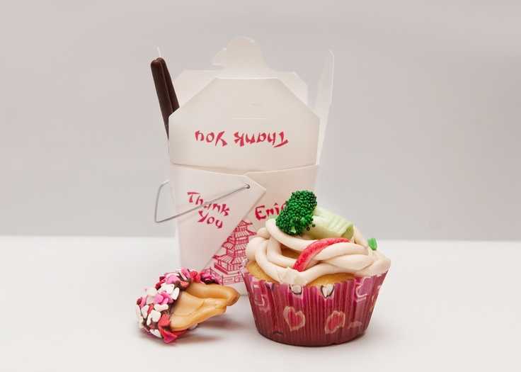 "Chinese take out cupcakes ""Like"" BrittyCakes on facebook! her cupca..."