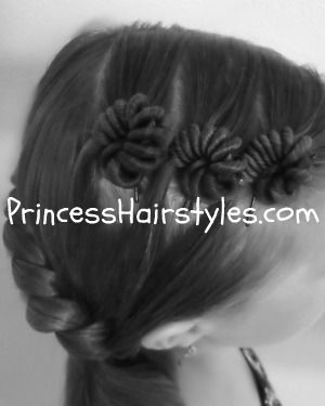 Snail shell hairstyle tutorial