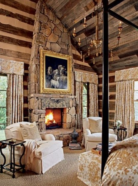 Toad hall master bedroom cozy cabin pinterest Master bedroom with fireplace images