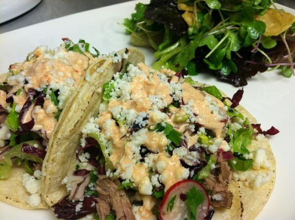 TGUTC Chipotle Pulled Pork Tacos! Spicy Citrus Slaw, Queso Fresco ...