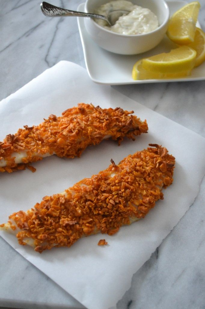 Sweet Potato Crusted Fish Sticks | Sarcastic Cooking - use cod or ...